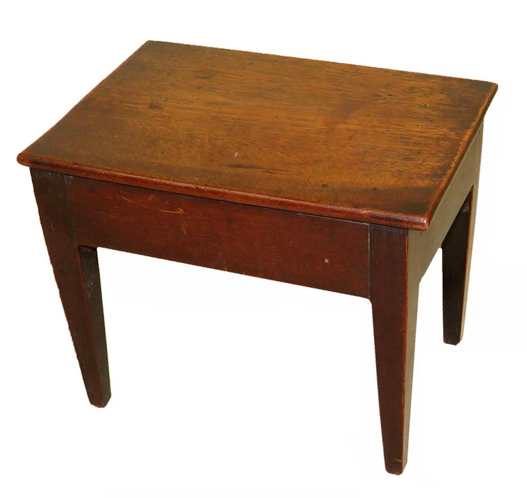 English 18th Century Antique Mahogany Miniature Side Table For Sale