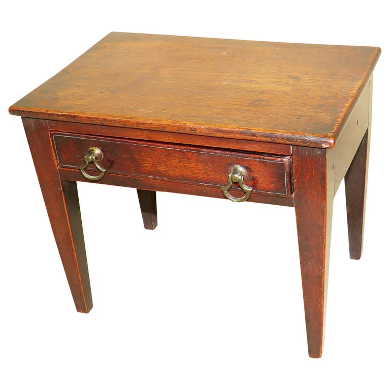 18th Century Antique Mahogany Miniature Side Table For Sale