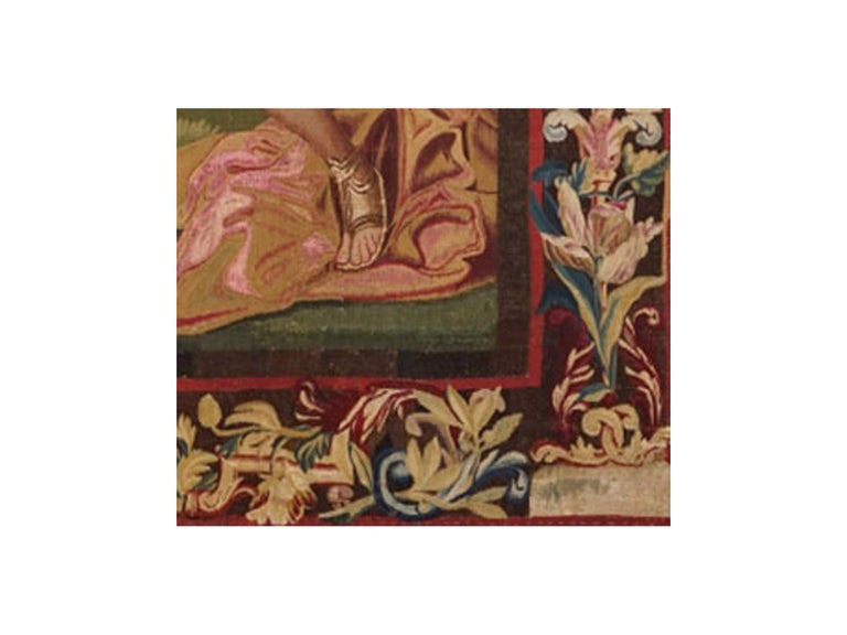 Belgian 18th Century antique tapestry from Brussels -