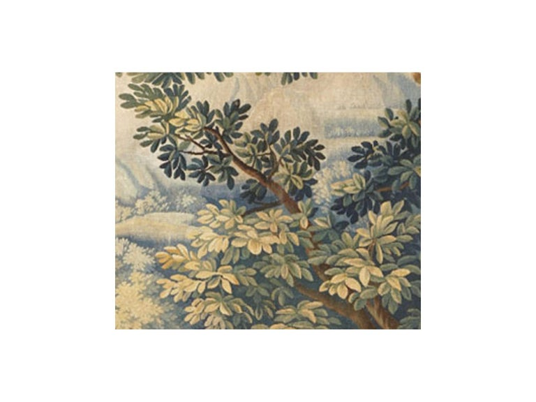 Hand-Woven 18th Century antique tapestry from Brussels -