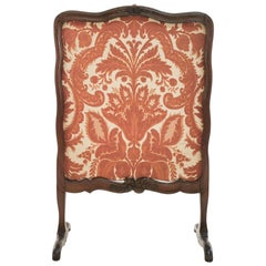 18th Century Antique Walnut French Fire Screen