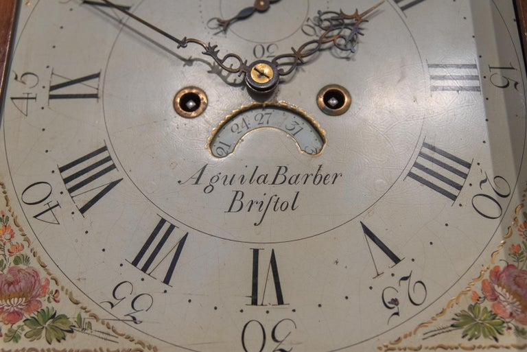 English 18th Century Aquilla Barber 8 Day Arched Automata Longcase Clock For Sale