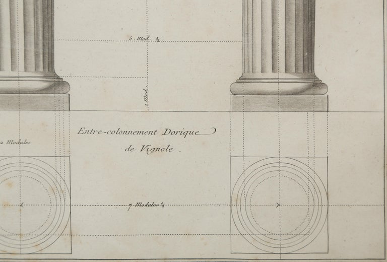French  Architectural Engraving by Jean Charles Delafosse-18th Century For Sale