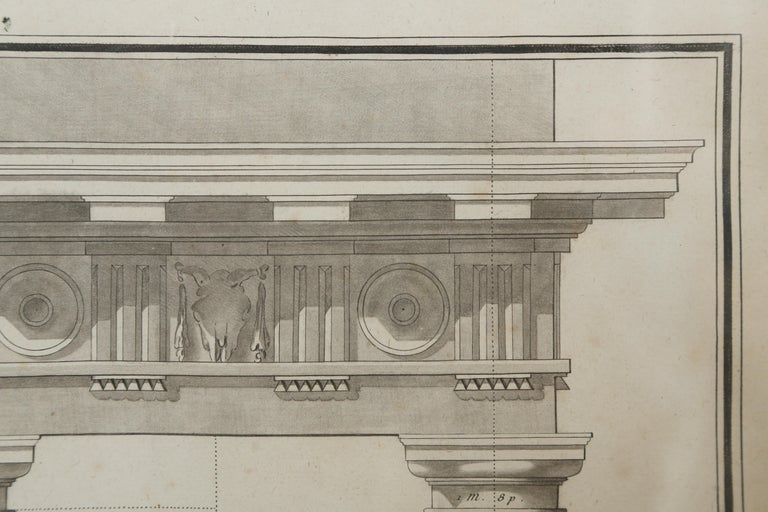 Engraved  Architectural Engraving by Jean Charles Delafosse-18th Century For Sale