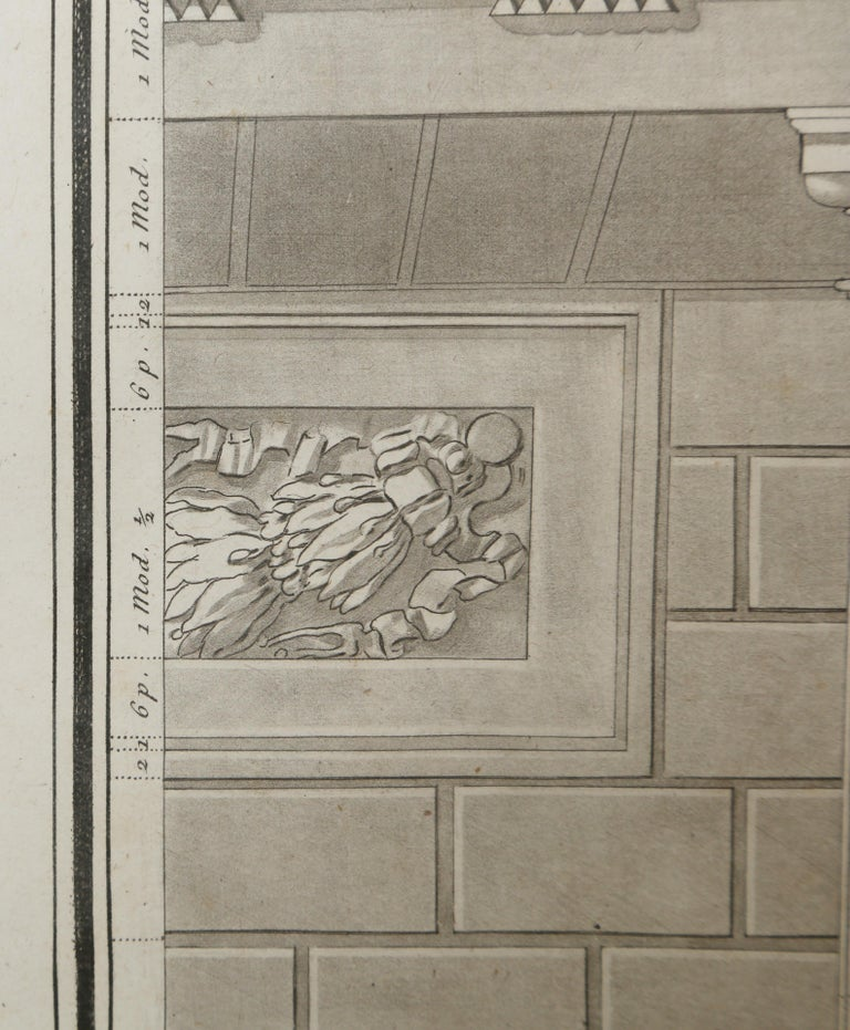 Architectural Engraving by Jean Charles Delafosse-18th Century In Good Condition For Sale In West Palm Beach, FL