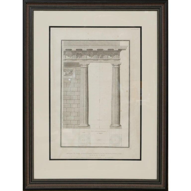 Architectural Engraving by Jean Charles Delafosse-18th Century For Sale