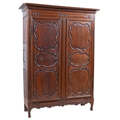 18th Century European Oak Armoire from the Ardennes Region of Belgium