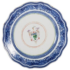 18th Century Armorial Chinese Export Porcelain Plate