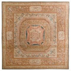 18th Century Aubusson Style Flat Weave Beige Brown European Kilim by Rug & Kilim