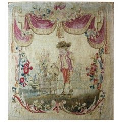 "18th Century Aubusson Tapestry ""Le Jardinier"""