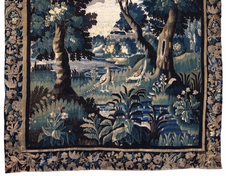 18th Century Aubusson Verdure Landscape Tapestry For Sale 2