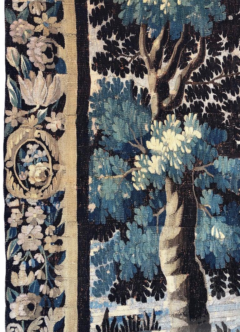 18th Century Aubusson Verdure Landscape Tapestry For Sale 3