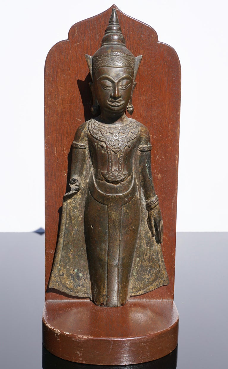 18th Century Ayutthaya Thai Bronze Buddha Bookends For Sale 1
