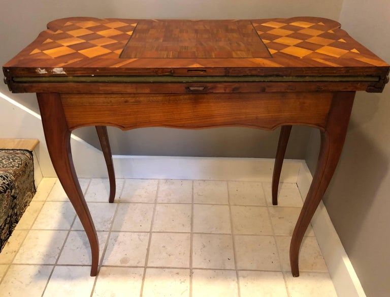 Cherry 18th Century Baroque Card Table, Germany, 1760 For Sale