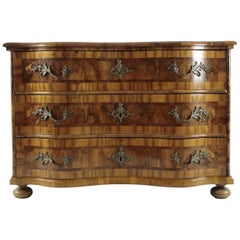 18th Century Baroque Chest of Drawers Nutwood, South Germany
