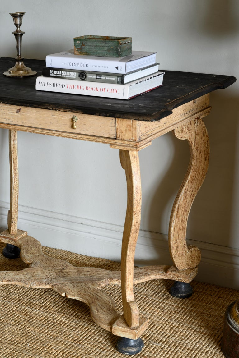 18th Century Baroque Console Table In Good Condition For Sale In Helsingborg, SE