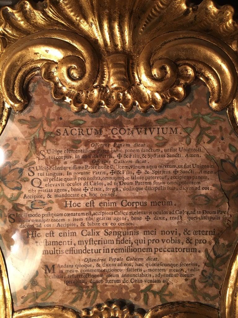 Italian 18th Century Baroque Ecclesiastical Carta Gloria, Venetian Museum Piece For Sale