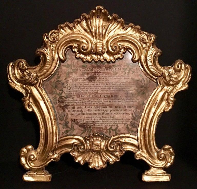 18th Century Baroque Ecclesiastical Carta Gloria, Venetian Museum Piece For Sale 1