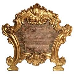 18th Century Baroque Ecclesiastical Carta Gloria, Venetian. Museum Piece