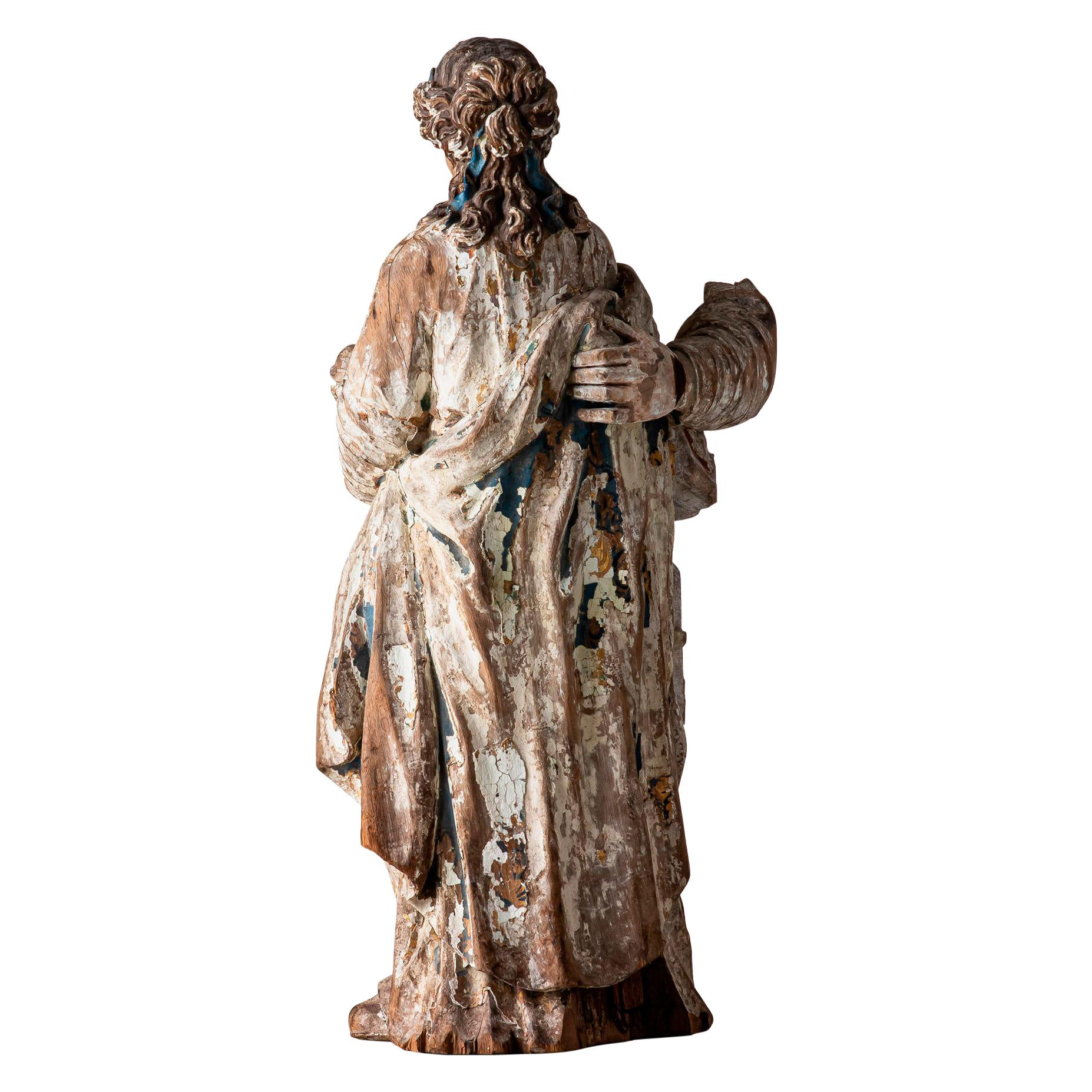 18th Century, Baroque, Italian School, Sculpture Carved in Oak
