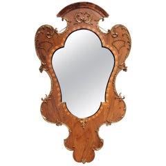 18th Century Baroque Walnut Mirror