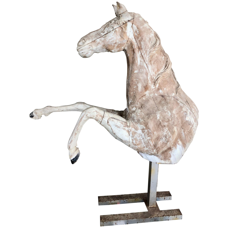 18th Century Beech Half Model of Horse
