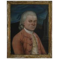 18th Century Belgium Pastel Portrait of a Nobleman