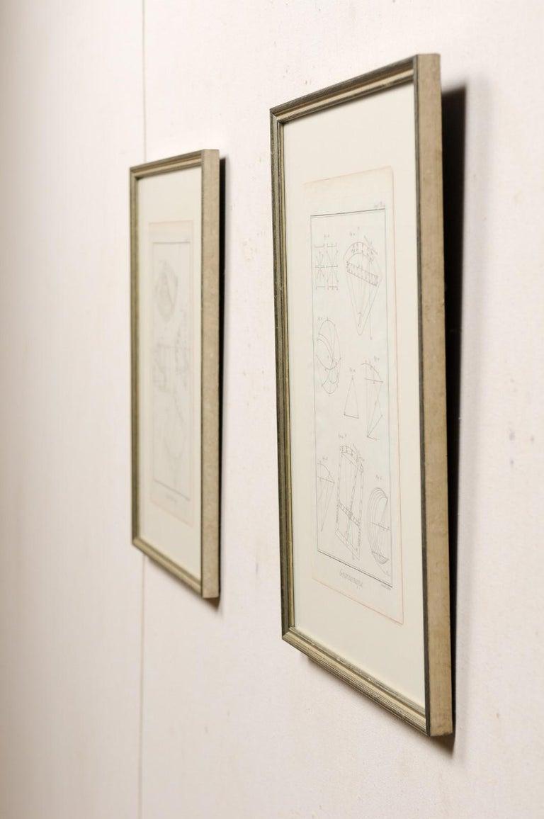 18th Century Bernard Direx Geometric Renderings in Frames For Sale 4