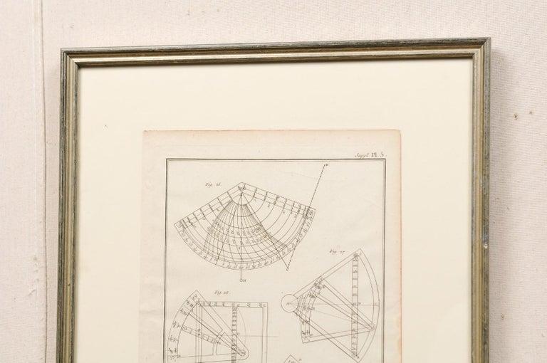 18th Century Bernard Direx Geometric Renderings in Frames In Good Condition For Sale In Atlanta, GA