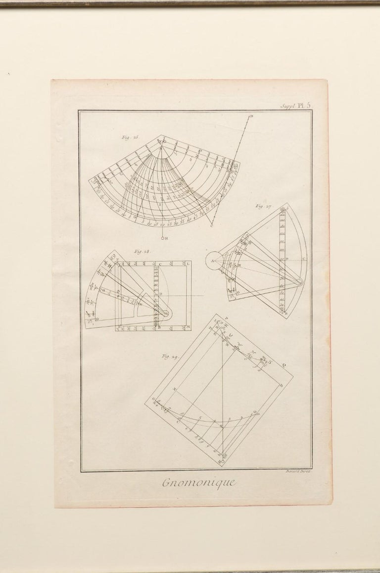 18th Century and Earlier 18th Century Bernard Direx Geometric Renderings in Frames For Sale