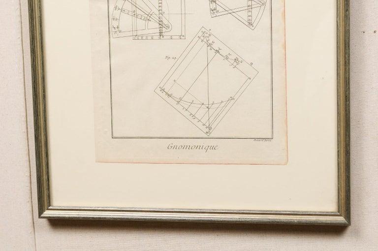 Wood 18th Century Bernard Direx Geometric Renderings in Frames For Sale