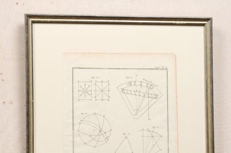 18th Century Bernard Direx Geometric Renderings in Frames For Sale 1