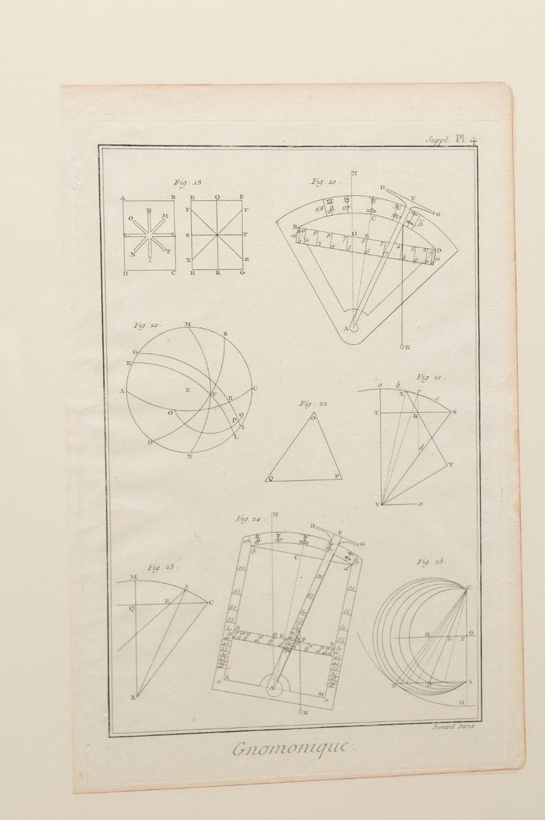 18th Century Bernard Direx Geometric Renderings in Frames For Sale 2
