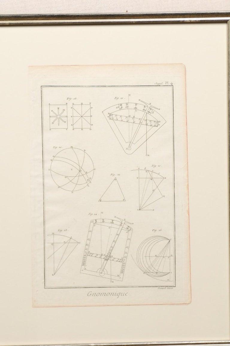 18th Century Bernard Direx Geometric Renderings in Frames For Sale 3