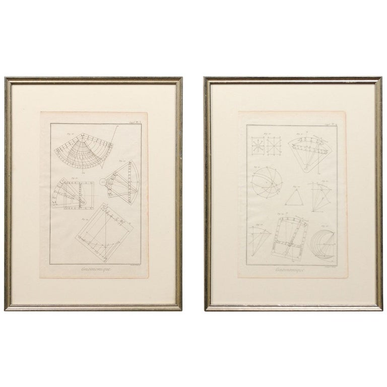 18th Century Bernard Direx Geometric Renderings in Frames For Sale