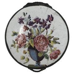 18th Century Bilston Enamel Floral Box