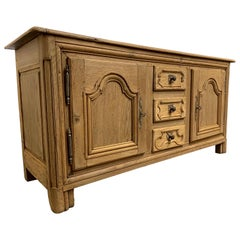18th Century Bleached French Oak Buffet