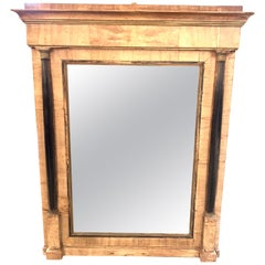 18th Century Bleached Walnut Empire Style Mirror