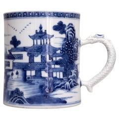 18th Century Blue and White Chinese Export Porcelain Mug