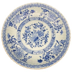18th Century Blue and White Chinese Porcelain Dish