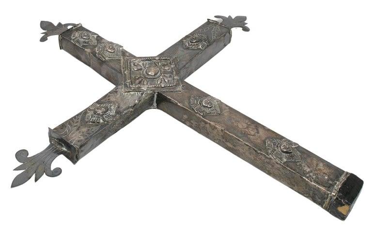 18th century Bolivian silver cross.
