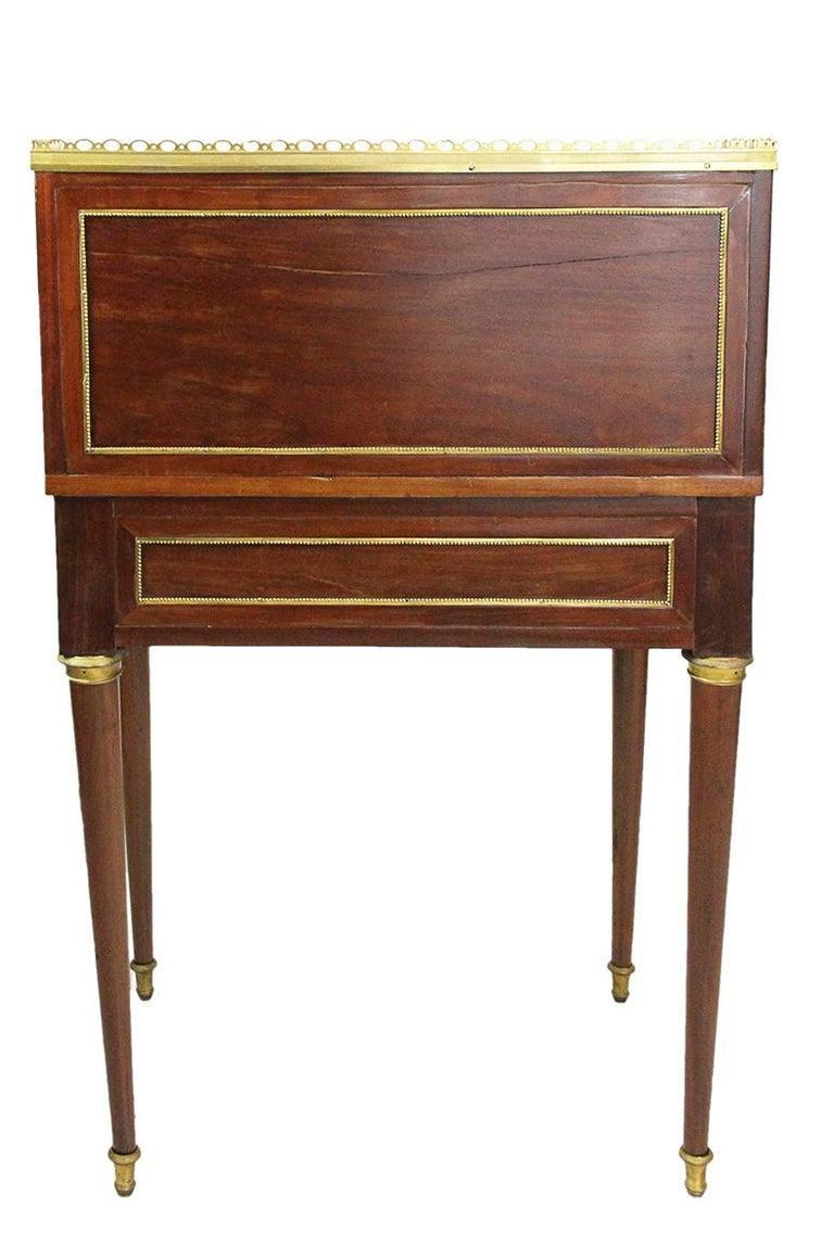 18th Century Bonheur Du Jour Desk Stamped Cramer in Mahogany Veneer For Sale 5