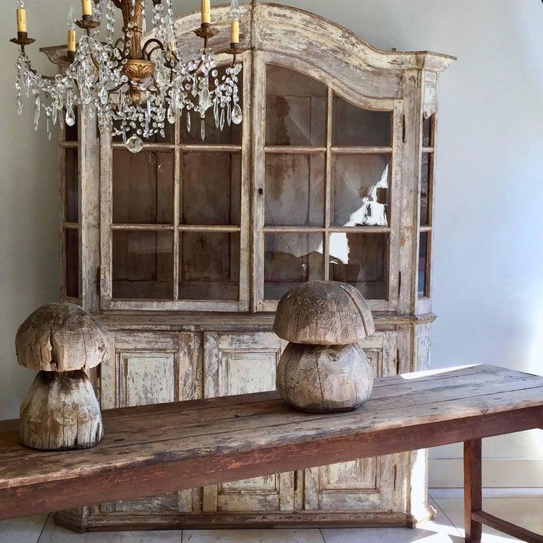 18th Century Bookcase/Vitrine Cabinet For Sale 4