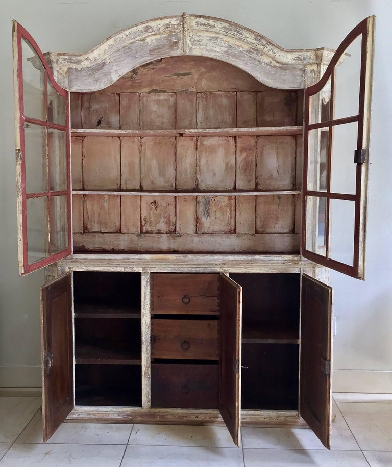 French 18th Century Bookcase/Vitrine Cabinet For Sale