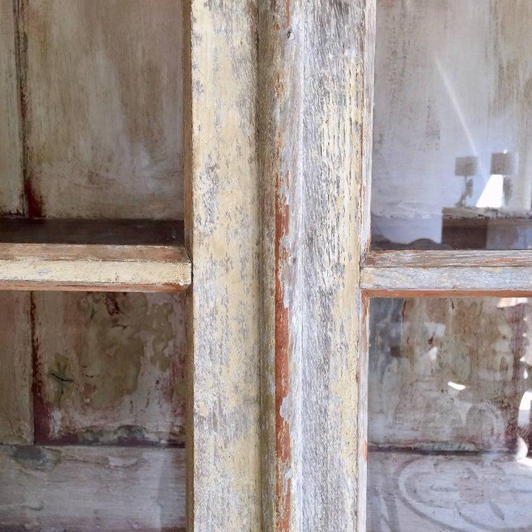 Glass 18th Century Bookcase/Vitrine Cabinet For Sale