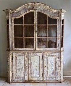 18th Century Bookcase /Vitrine Cabinet