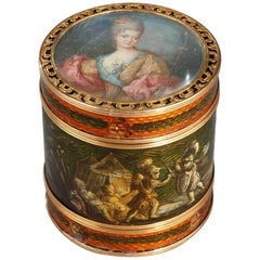 18th Century Box Martin Varnish and Gold Mount Signed Bardin