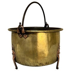 18th Century Brass and Copper Hand-Forged Stock Pot