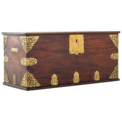 18th Century Brass Mounted Trunk