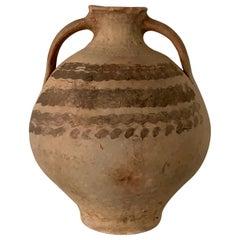 "18th Century Bridal Jug Picher ""Cantaro"" from Calanda, Spain, Terracotta Vase"